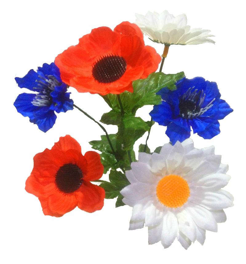 Купить цветы искусственные полевые